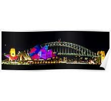 Sydney Opera House & Harbour Bridge - Vivid Festival Poster