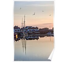 Sunset Harbour, Wells-Next-The-Sea Poster