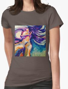 Acrylic Portrait Womens Fitted T-Shirt