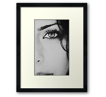 blinded by what i see Framed Print