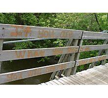 Old Wooden bridge with graffiti Photographic Print