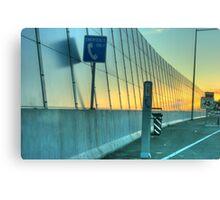 An Urban Sunset HDR Canvas Print