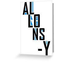 Allons-y Greeting Card