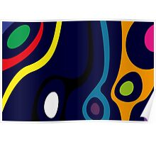 Colorful Organic Abstract Design Poster