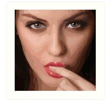 Honey lip Art Print