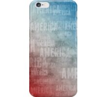 Patriotic America Text Graphic iPhone Case/Skin