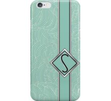 1920s Blue Deco Swing with Monogram letter S iPhone Case/Skin