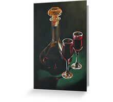 Carafe and Glasses Greeting Card