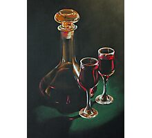 Carafe and Glasses Photographic Print