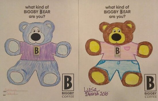 Coloring at Biggby with Ashleigh and Luisa by Luisa Zajko