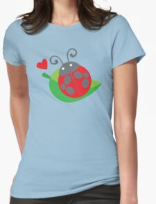 cute little ladybug Womens Fitted T-Shirt