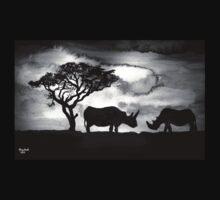 Rhinoceros silhouette Baby Tee
