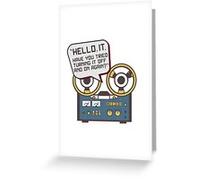 IT Crowd Inspired - Hello IT - Turn it Off and On Again - Tech Support Parody Greeting Card