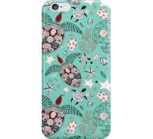 marine pattern of skulls and stars iPhone Case/Skin