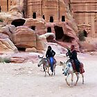 Beduin Riders of Petra by HELUA