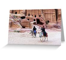 Beduin Riders of Petra Greeting Card