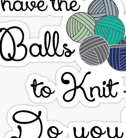 Balls 2 knit - teal Sticker