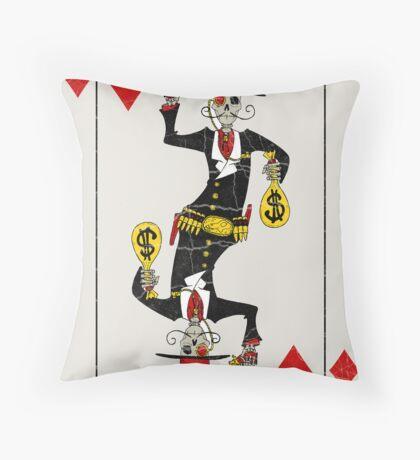 Jack of Diamonds  Throw Pillow