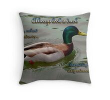 Look Like a Duck Throw Pillow