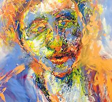 Abstract Mixed Media Portrait by princeprimrose