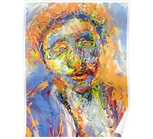 Abstract Mixed Media Portrait Poster