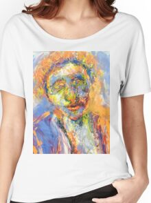 Abstract Mixed Media Portrait Women's Relaxed Fit T-Shirt