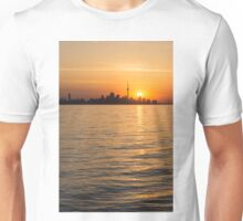 Toronto Skyline - Greeting a Brilliant Summer Sunrise Unisex T-Shirt