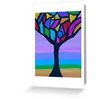 'Abstract Tree' by Bridget Sinnamon (2015) Greeting Card