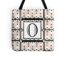 1920s Pink Champagne Gatsby Monogram letter O Tote Bag