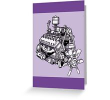 Lincoln Zephyr V12 Engine Greeting Card