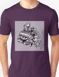 Lincoln Zephyr V12 Engine Unisex T-Shirt