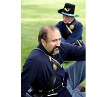 Union Soldier Contemplating the Coming Battle Photographic Print