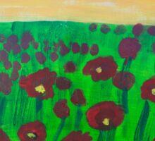 'Poppy Fields' by Bridget Sinnamon (2014) Sticker