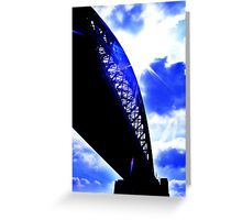 contrast between the bridge and the sky :D Greeting Card