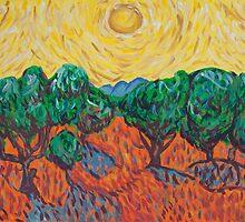 'Van Gogh's Olive Trees' by Ella Cobain (2015) by Peter Evans Art