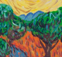 'Van Gogh's Olive Trees' by Ella Cobain (2015) Sticker