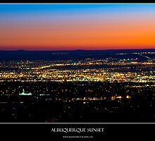 Albuquerque Sunset - Titled Print by Mark Podger