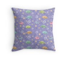 Seamless pattern with sleeping rabbits Throw Pillow