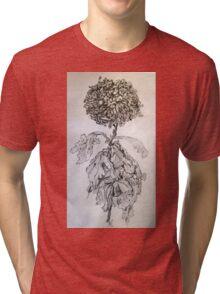 Chrysanthemum after Piet Mondrian Tri-blend T-Shirt