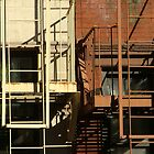 Double Fire Escape (NYC) by Lesley Rosenberg
