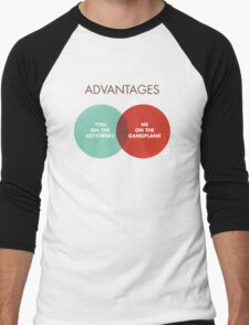 Advantages to both - Disco Ball/Lyric Variant Men's Baseball ¾ T-Shirt