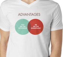 Advantages to both - Disco Ball/Lyric Variant Mens V-Neck T-Shirt