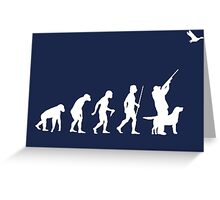 Duck Hunting Evolution T Shirt Greeting Card