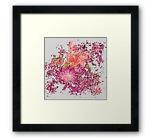 Meshed Up Summer Blossoms Framed Print