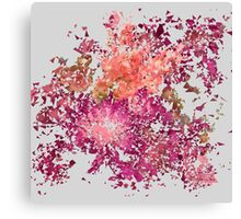 Meshed Up Summer Blossoms Canvas Print