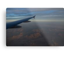 Flying Over the Mojave Desert at Dawn Metal Print
