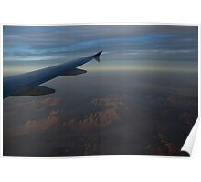 Flying Over the Mojave Desert at Dawn Poster