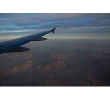 Flying Over the Mojave Desert at Dawn Photographic Print
