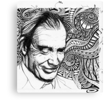 The Intricacies of Ink - Aldous Huxley Canvas Print