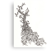 The Intricacies of Ink - Roots Canvas Print